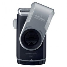 Braun Batterie-Rasierer MobileShave M90, silber/schwarz