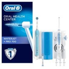 Oral-B ProfCare Center PRO 700 WaterJet, blau/weiß