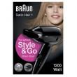 Braun Reise-Haartrockner Satin Hair 1 - HD130 Style&Go, klappbar
