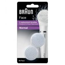 Braun FACE Ersatzbürstenköpfe SE80-n 2er-Set normal, weiß