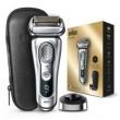 Braun $Rasierer Series 9 - Premium Edition Silber mit Ledertasche
