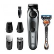 Braun BeardTrimmer BT7220, schwarz/metallic grau