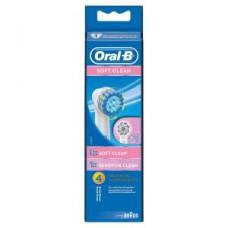 Oral-B Soft Clean 4er Pack Aufsteckbürsten, weiß