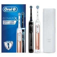 Braun Oral-B Genius X 2900 Duopack, Schwarz/rosegold