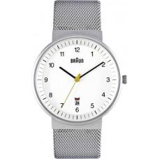 Braun Herren-Armbanduhr BN0032 WHSLMHG, weiß/silber