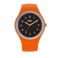 Braun Sports-Silikonarmbanduhr BN0111 BKORG, orange/weiß